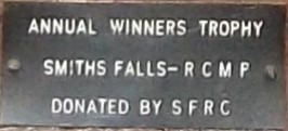 The plaque from the trophy.